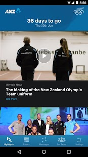 NZ Olympic Team - screenshot