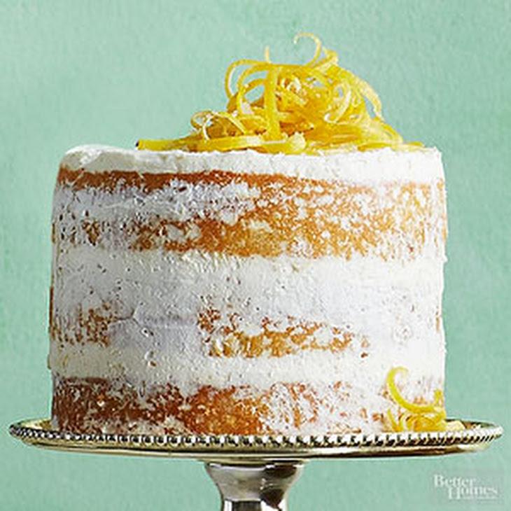 Lemon Olive Oil Cake with Lemon Cream Recipe   Yummly