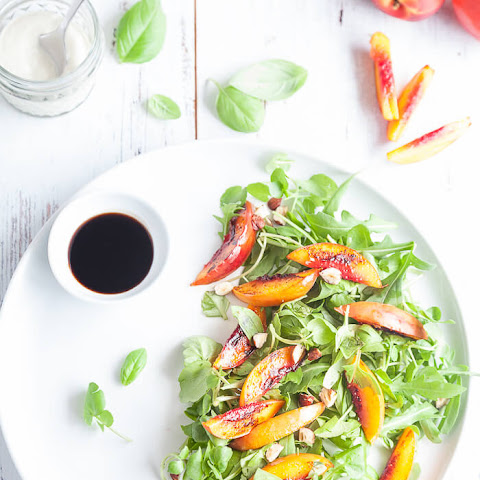Grilled Nectarine Salad with Balsamic
