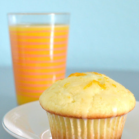 Glazed Orange Juice Muffins