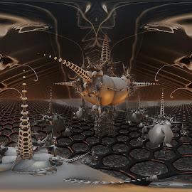 Long Island Sound by Rick Eskridge - Illustration Sci Fi & Fantasy ( jwildfire, mb3d, fractal, acdsee 19, twisted brush )