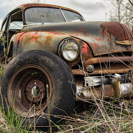 Rusty delivery truck by Carl Chalupa - Transportation Automobiles ( rusty truck, rusted, rust,  )