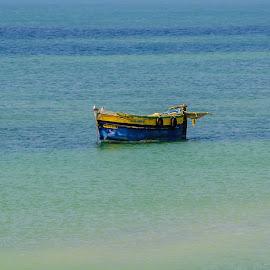 Lost by Vijayanand K - Transportation Boats ( fishing boats, boats, sea, fishing, boat, anchored boats )