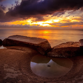 tran·quil by Gerard Macorvick - Landscapes Sunsets & Sunrises ( sunset, seascape, beach, evening )