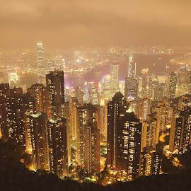 Hongkong by Manoj Kulkarni - City,  Street & Park  Skylines ( skyline, hongkong )