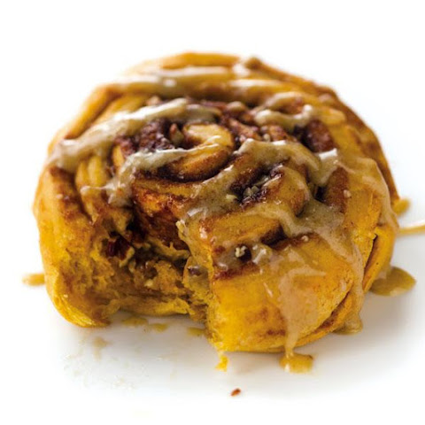 Yam Cinnamon Rolls with Tangy Parsnip Glaze