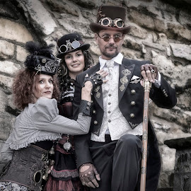Steampunk Duo by Steve Dormer - People Group/Corporate ( lincoln, woman, ayslum steampunk, steampunk, man )
