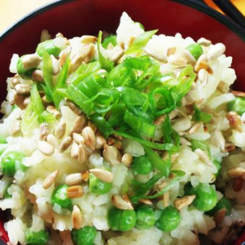 Rice With Peas And Toasted Sunflower Seeds