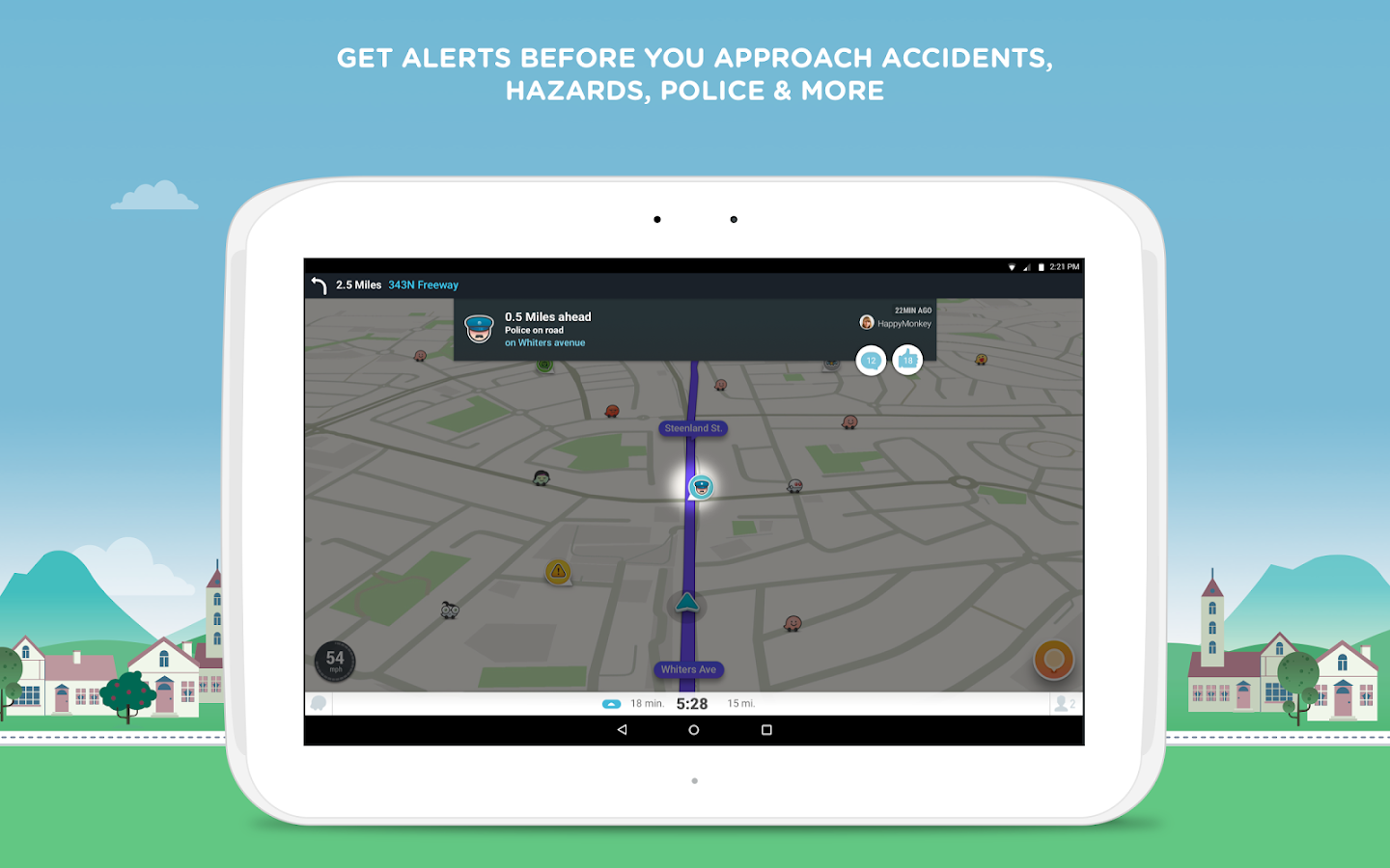 Waze - GPS, Maps & Traffic Screenshot 7
