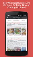 Screenshot of Restaurants on TV Trip Planner