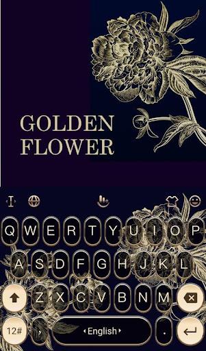 Golden Flower Keyboard Theme For PC
