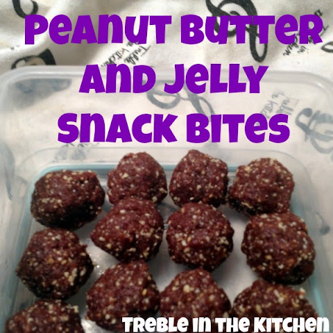 Peanut Butter and Jelly Snack Bites