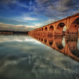 by Steven Maerz - Buildings & Architecture Bridges & Suspended Structures ( #waterscape #river #bridge #reflection )