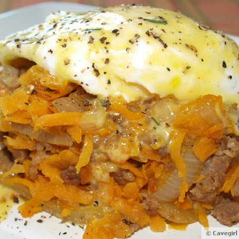 Sweet Potato and Sausage Hash Benedict