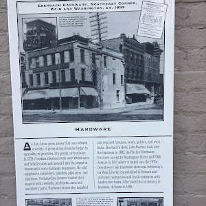 Eberbach Hardware, Northeast Corner, Main andWashington, Ca. 1893  In 1872 William Herz built112 West Washington Street on the alleyto your left for his popular painting and decorating business  ...