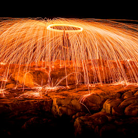 Light-up the night by Herman Olivier - Abstract Light Painting ( abstract, light painting, steel wool, long exposure, night, longexposure )