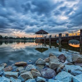 Mega Stormy Skyline by Lb Chong Jacobs - City,  Street & Park  Skylines