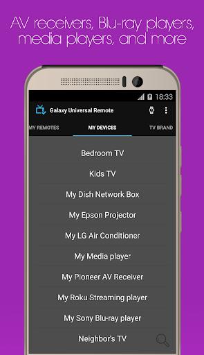 Galaxy Universal Remote - screenshot