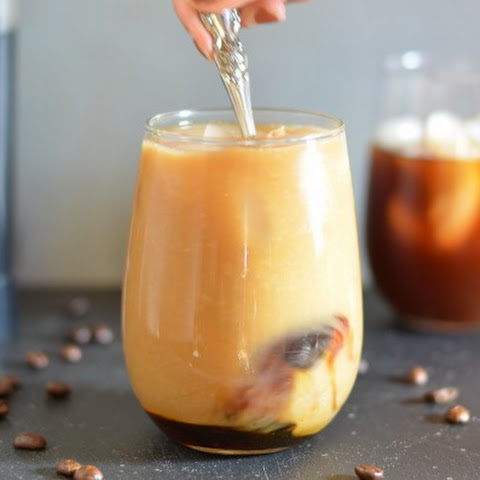 Cold-Brewed Maple Almond Iced Coffee