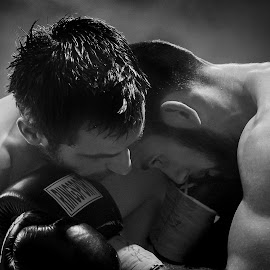 Up Close and Personal by Kim Johnson - Sports & Fitness Boxing ( punch, hit, fight, boxer, combat, boxers, boxing )