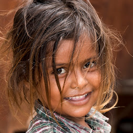 India by Diego Scaglione - Babies & Children Child Portraits ( girl, indian, smile, hair, eyes )