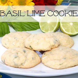 Basil Lime Cookies Made With Brummel & Brown Spread
