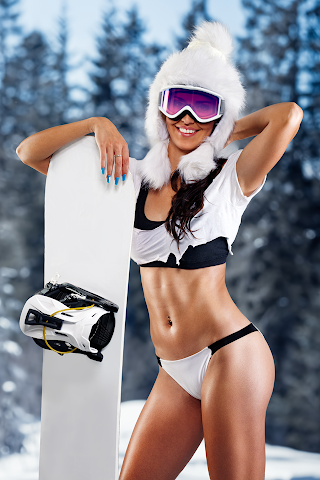 android Filles de Ski incroyable Screenshot 3