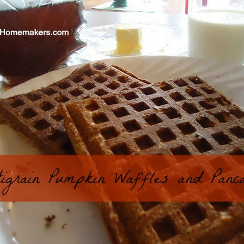 Multi-Grain Pumpkin Waffles and Pancakes (wheat free)