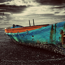 The Boat by Jomy Jose - Digital Art Things ( kids boat, auckland, larkings landing, boat, beach haven )