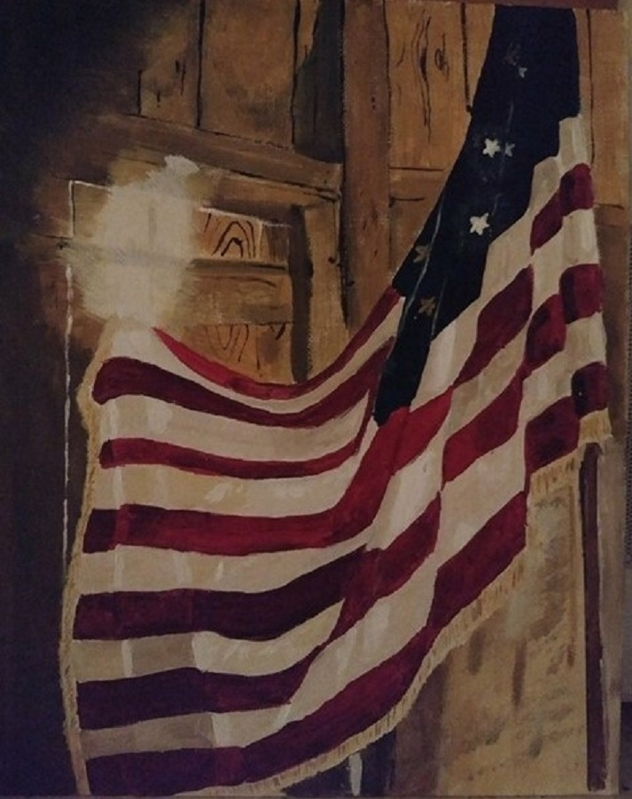 Old Glory by Robin Smith - Painting All Painting ( flag, patriotic, acrylic; )