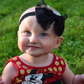 Baby Blue Eyes by Tiffany Serijna - Babies & Children Children Candids ( child, nature, little, blue eyes, baby, cute, toddler, pretty )