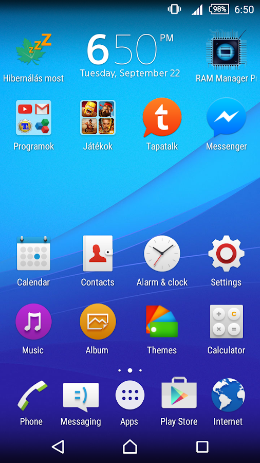 CM13 Xperia Z5 Blue Theme Screenshot 0