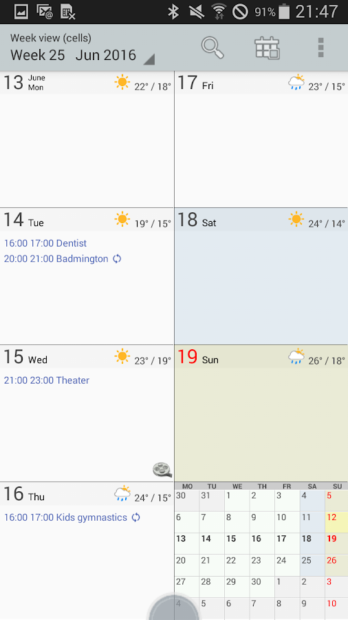 Personal Calendar Screenshot 3