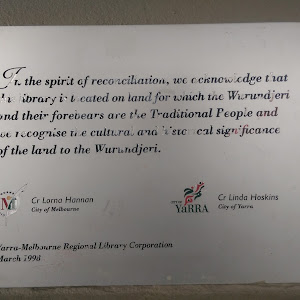 In the spirit of reconciliation, we acknowledge that  this library is located on land which the Wurundjeri and their forebears are the Traditional People and we recognise the cultural and historical ...