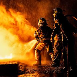 Fire2 by Arisha Singh - People Portraits of Men ( firefighter, fireman, firefighting, fire, ems )