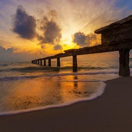 the sea by Germzki Hitch Cardenas - Landscapes Sunsets & Sunrises ( #beach, #sea, #sunset, #water, #sunrise,  )