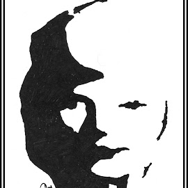 Black & White by Sandipan Dev - Drawing All Drawing ( face, two faced people, face painting, portrait )