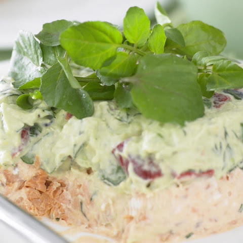 Layered Salmon and Avocado Dip