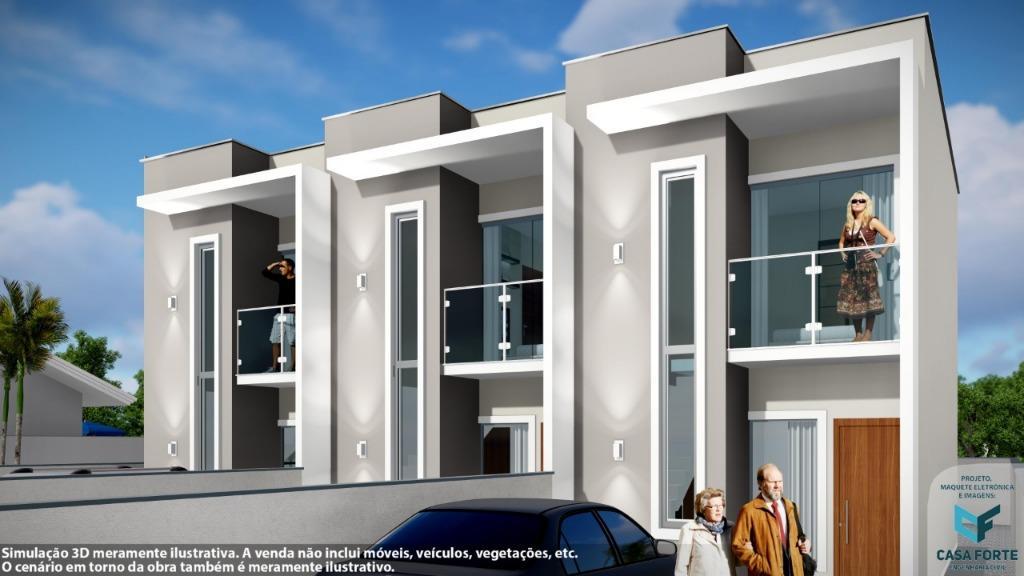 Sobrado com 2 dormitórios à venda por R$ 183.000,00 - Universitário - Tijucas/SC