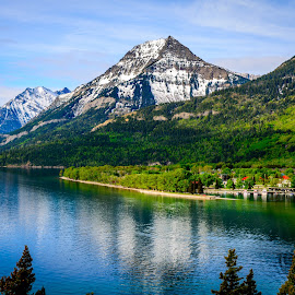Waterton Lake by Joseph Law - Landscapes Waterscapes