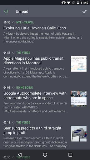 Newsfold Feedly RSS reader - screenshot