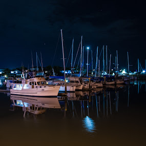 Private yachts 3 by Mark Luyt - Transportation Boats ( yachts, moored, reflections, boats, water,  )