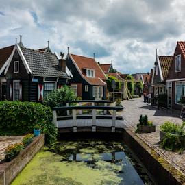 Quaint by Nathan  Pucheril - Buildings & Architecture Homes ( peaceful, village, amsterdam, bridge, quiet, netherlands )