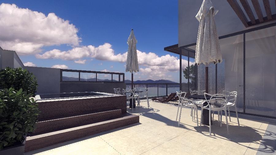Apto Quadra Mar,20 metros da praia 3 dorm. sendo 1 Suite com terraço e espaço gourmet.10% entrada