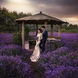 by Zhuo Ya - Wedding Bride & Groom