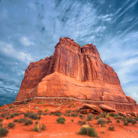 The Organ by Brian Adamson - Landscapes Mountains & Hills ( desert, arches national park, utah, organ, monolith,  )