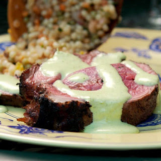 Grilled Leg of Lamb With Spicy Lime Yogurt Sauce