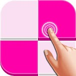 Pink Piano Tiles Icon