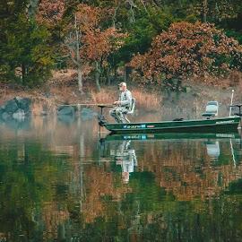 Morning Fisherman by Kathy Suttles - People Street & Candids