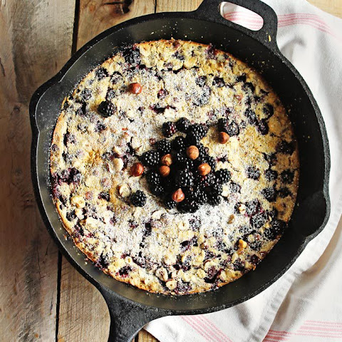 Blackberry Hazelnut Clafoutis